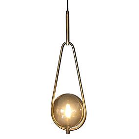 billige Hengelamper-Mini Anheng Lys Omgivelseslys galvanisert Metall Glass Mini Stil 110-120V / 220-240V