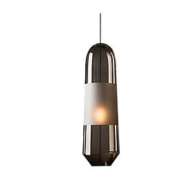 billige Hengelamper-enkelt anheng lys nordisk glass anheng lys sylinder / øy anheng belysning omgivende lys galvanisert metall lysarmaturer for spisebord stue