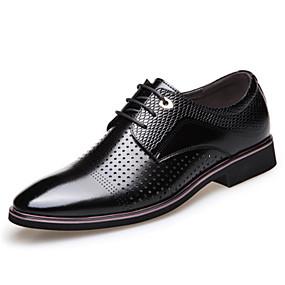 baratos Oxfords Masculinos-Homens Sapatos formais Sintéticos Primavera / Outono Oxfords Respirável Preto / Marron