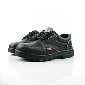 baratos Oxfords Masculinos-Homens Sapatos de couro Com Transparência / Pele Primavera Verão / Outono & inverno Oxfords Não escorregar Preto / Ao ar livre