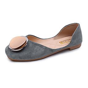 voordelige Damesschoenen met platte hak-Dames Platte schoenen Platte hak Suède Zomer Zwart / Beige / Groen