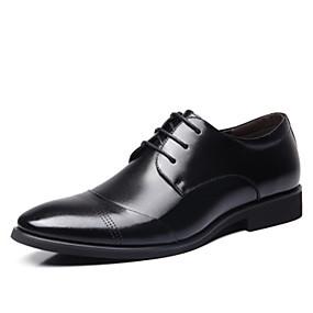 baratos Oxfords Masculinos-Homens Sapatos formais Sintéticos Primavera Verão Oxfords Preto / Marron / Sapatos Confortáveis
