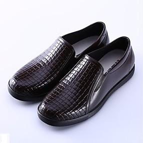 baratos Sapatilhas e Mocassins Masculinos-Homens Sapatos Confortáveis PVC Primavera / Outono Mocassins e Slip-Ons À Prova-de-Água Marron / Azul / Castanho Escuro