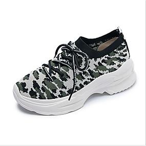 voordelige Damessneakers-Dames Sneakers Platte hak Ronde Teen Polyester Lente Paars / Bruin / Groen