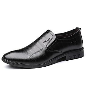 baratos Sapatilhas e Mocassins Masculinos-Homens Sapatos Confortáveis Couro Ecológico Verão Negócio Mocassins e Slip-Ons Preto / Marron / Festas & Noite