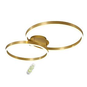 billige Sales-OYLYW 2-Light Cirkelformet Skyllemonteringslys Baggrundsbelysning Malede finish Metal Akryl Nyt Design 110-120V / 220-240V Varm Hvid / Hvid / Dimbar med fjernbetjening