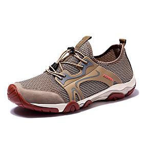 baratos Sapatos Esportivos Masculinos-Homens Sapatos Confortáveis Com Transparência / Couro Ecológico Verão Esportivo Tênis Aventura Não escorregar Preto / Azul / Cinzento / Atlético