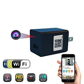 رخيصةأون كاميرات CCTV-HD 1080P كاميرا لاسلكية صغيرة الجدار واي فاي شاحن محول كاميرا فيديو الأمن