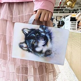 billige Andre tilfeller-etui til amazon kindle paperwhite 2018 lommebok / kortholder / støtsikker kroppsvesker wolf pu skinnveske til amazon kindle paperwhite 2018