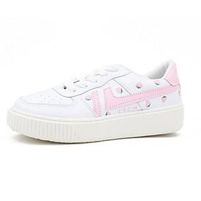 voordelige Damessneakers-Dames / Unisex Sneakers Platte hak Ronde Teen PU Zomer Rood / Roze
