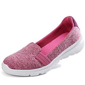 voordelige Damesschoenen met platte hak-Dames Platte schoenen Platte hak Ronde Teen Netstof Zomer Zwart / Fuchsia / Blauw