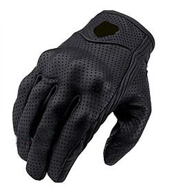 abordables Nouvelles arrivées en septembre-1 paire de gants en cuir noir à vélo moto moto armure de protection maille gants de course solides