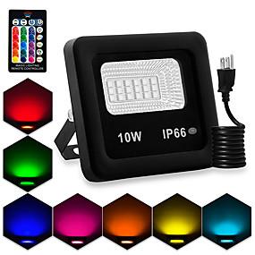 halpa Valonheittimet-1kpl 10 W LED-valonheittimet Vedenkestävä / Etäohjattu / Uusi malli RGB 85-265 V Piha / Puutarha 18 LED-helmet