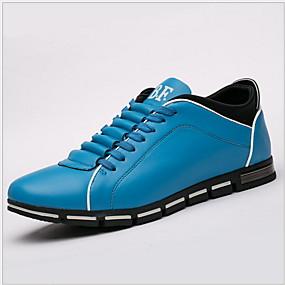baratos Tênis Masculino-Homens Sapatos Confortáveis Sintéticos Verão Tênis Preto / Marron / Laranja