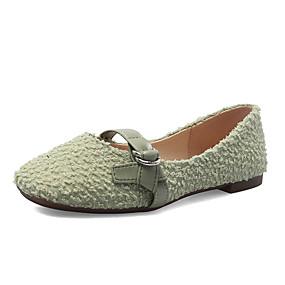 voordelige Damesinstappers & loafers-Dames Loafers & Slip-Ons Platte hak Imitatiebont Lente & Herfst Zwart / Groen / Geel