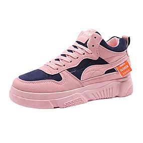 voordelige Damessneakers-Dames Sneakers Creepers Ronde Teen Suède Lente zomer / Herfst winter Zwart / Roze / Grijs