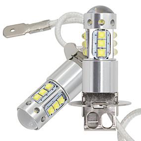 abordables 70%OFF-2pcs voiture h3 led drog light drsm 16smd led avec cree puces lampe de brouillard 80w 16led feux arrière drl antibrouillard ampoule 12-24v