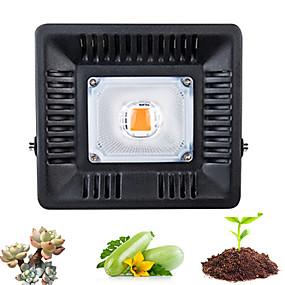 abordables Lampe de croissance LED-1 set 50 W 500 lm 1 Perles LED Spectre complet Pour Greenhouse Hydroponic Luminaire croissant 220 V 110 V Serre de légumes