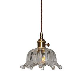 abordables Plafonniers-Cristal Lampe suspendue Lumière d'ambiance Plaqué Verre Verre 110-120V / 220-240V