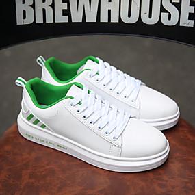 economico Sneakers da uomo-Per uomo Scarpe comfort PU Primavera / Autunno Casual Sneakers Footing Traspirante Nero / Verde / Bianco
