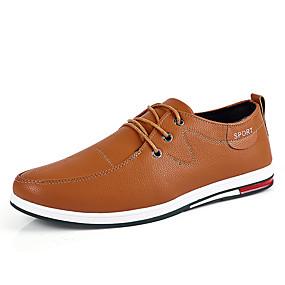 baratos Tênis Masculino-Homens Sapatos Confortáveis Microfibra Primavera Verão Formais Tênis Respirável Preto / Amarelo