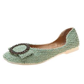 voordelige Damesinstappers & loafers-Dames Loafers & Slip-Ons Platte hak Vierkante Teen PU / Synthetisch Herfst / Lente zomer Zwart / Groen / Geel