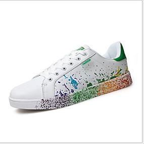 baratos Tênis Masculino-Homens Sapatos Confortáveis Com Transparência Verão Tênis Corrida Respirável Estampa Colorida Branco / Preto / Branco / azul / Branco e Verde