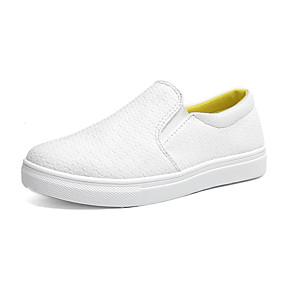 voordelige Damesinstappers & loafers-Dames Loafers & Slip-Ons Platte hak Ronde Teen Canvas Informeel Wandelen Lente & Herfst Wit / Geel / Roze