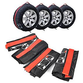 voordelige Autohoezen-4 stks / set reservewiel beschermhoes polyester winter en zomer autobanden opbergtas