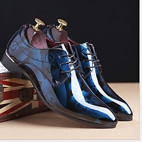 baratos Oxfords Masculinos-Homens Sapatos Confortáveis Couro Ecológico Verão Oxfords Respirável Amarelo / Vermelho / Azul