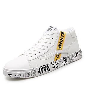 baratos Tênis Masculino-Homens Sapatos Confortáveis Lona Primavera Verão Casual Tênis Preto / Amarelo / Branco