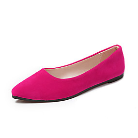 voordelige Damesschoenen met platte hak-Dames Platte schoenen Platte hak Gepuntte Teen Microvezel Lente & Herfst Zwart / Fuchsia / Roze