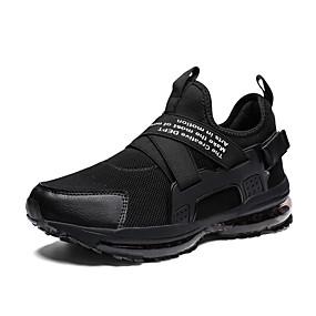baratos Sapatos Esportivos Masculinos-Homens Sapatos Confortáveis Tecido elástico Verão / Outono Esportivo / Casual Tênis Corrida Respirável Preto / Preto / Vermelho / Vermelho