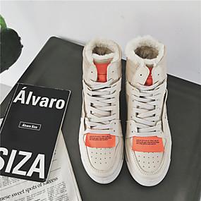 baratos Tênis Masculino-Homens Sapatos Confortáveis Microfibra Inverno Tênis Khaki