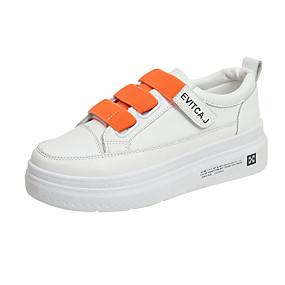 voordelige Damessneakers-Dames Sneakers Platte hak Ronde Teen Canvas Zomer Wit / Oranje / Geel