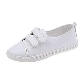 voordelige Damessneakers-Dames Sneakers Lage hak Ronde Teen PU Informeel / Chinoiserie Wandelen Lente & Herfst / Lente zomer Zwart / Wit