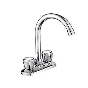 billige Vandhaner til badeværelset-Håndvasken vandhane - Udbredt Flerlags Andet Tre Håndtag To hullerBath Taps