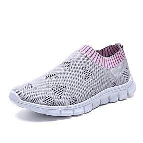 voordelige Damesschoenen met platte hak-Dames Sneakers Platte hak Ronde Teen Tricot Zomer Roze / Beige / Grijs
