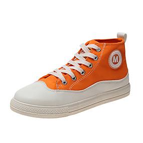 voordelige Damessneakers-Dames Sneakers Platte hak Gesloten teen Canvas Informeel / Zoet Wandelen Lente & Herfst / Lente zomer Zwart / Oranje / Groen