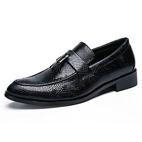 halpa Miesten slip-on-tennarit ja loafterit-Miesten Comfort-kengät PU Syksy Vapaa-aika Mokkasiinit Non-liukastumisen Musta