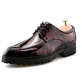 baratos Oxfords Masculinos-Homens Sapatos formais Couro Primavera / Outono & inverno Casual / Formais Oxfords Caminhada Respirável Preto / Preto / Vermelho / Black / azul / Festas & Noite