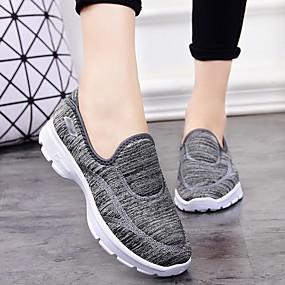 baratos Sapatos Esportivos Femininos-Mulheres Tênis Sem Salto Ponta Redonda Lona Fitness Outono & inverno Preto / Vermelho / Azul