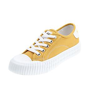 voordelige Damessneakers-Dames Sneakers Platte hak Ronde Teen Denim Herfst Zwart / Wit / Geel