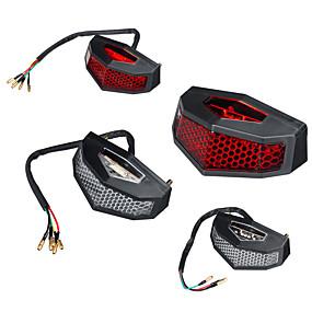 billige Nyankomne i oktober-5 ledninger-12v rød led bakbremsestopp kjører baklykt motorsykkel atv smussykkel integrert
