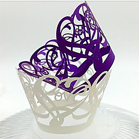 billige Praktiske gaver-Bryllup / Fest Miljøvennlig materiale / Kartong Papir Kaketilbehør Kreativ / Bryllup / Familie - 12 pcs