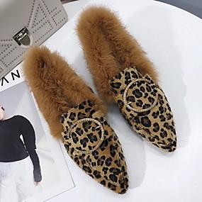 voordelige Damesinstappers & loafers-Dames Loafers & Slip-Ons Blok hiel Gepuntte Teen Suède Zomer Zwart / Donker Bruin