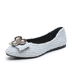 voordelige Damesschoenen met platte hak-Dames Platte schoenen Platte hak Gepuntte Teen PU Informeel Herfst Zwart / Lichtblauw / Groen
