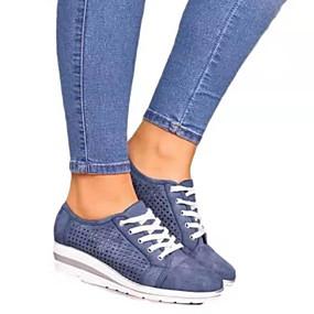 voordelige Damessneakers-Dames Sneakers Creepers Gepuntte Teen PU Herfst Zwart / Bruin / Groen