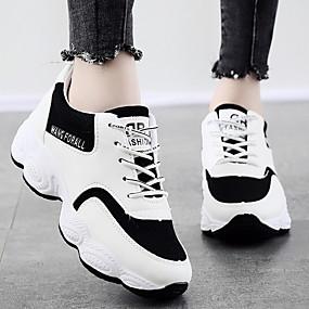 voordelige Damesschoenen met platte hak-Dames Platte schoenen Platte hak Ronde Teen Rubber / Leer Zomer Zwart / Wit / Blauw