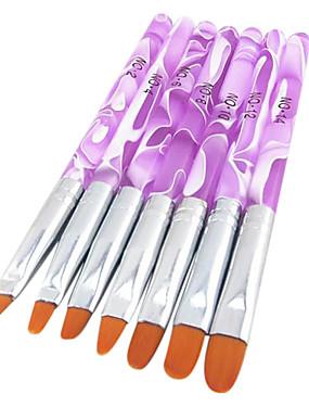 voordelige Nagelborstels-7pcs Nylon Nail Art Tool Nail Art Kit Nail acrylborstel Voor Vingernagel Teennagel Acrylkwast Noviteit Nagel kunst Manicure pedicure Klassiek / leuke Style Dagelijks